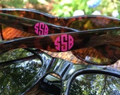 Monogrammed Sunglasses (Polarized) - The Perfect Summer Accesory - Available in Black or Tortoise with Several Color Options for Monogram