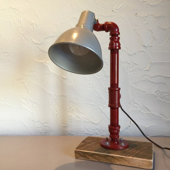 Table lamps made from water pipes best inspiration for for Gas pipe lamp