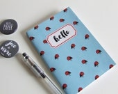 Address Book with Ladybug Pattern A6 - Illustration - Handmade - Custom Label Small Soft Cover