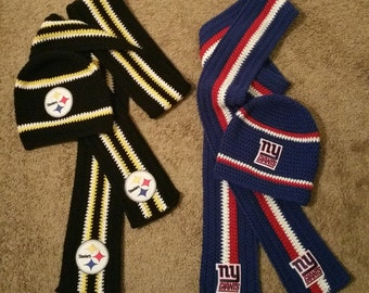 Nfl Scarf And Hat Etsy