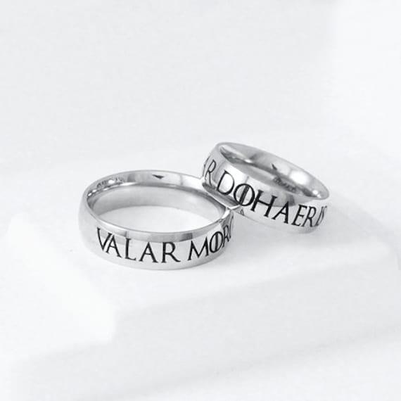 Valar Morghulis Dohaeris Ring Stainless Steel Geek