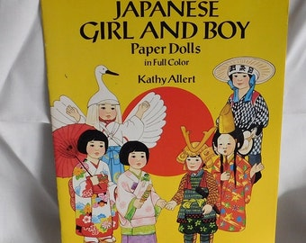 Japanese Girl & Boy Paper Dolls