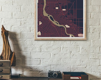 Twins Edition - Minneapolis Vintage Map print