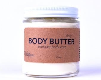 Body Butter - Lemongrass- 100% Natural Daily Body Lotion