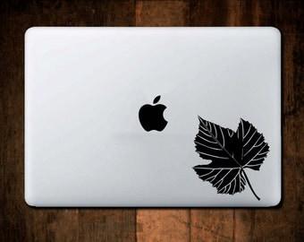 Leaf Decal MacBook Decal,Vinyl,Car Decal, Window Decal, ipad decal, laptop decal