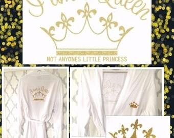Queen gold robe dressing gown bathrobe