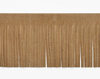 "2"" Long Faux Suede Fringe Trim by Yard, EXP-IR6824"