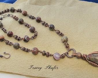 Copper Chainmaille Necklace & Bracelet Set