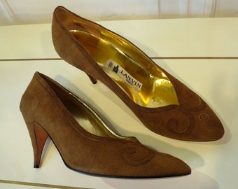 Brown shoes size 7 vintage LANVIN