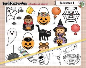 Halloween Holiday Digital ClipArt