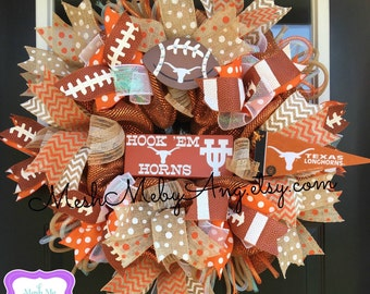 Items Similar To University Of Texas Wreath With