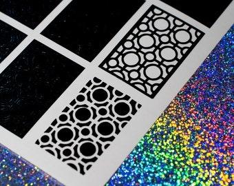 Retro Pattern Nail Vinyls - Nail Decals - Nail Art - Nail Stickers - Stencils - Buy 5 get 1 free!