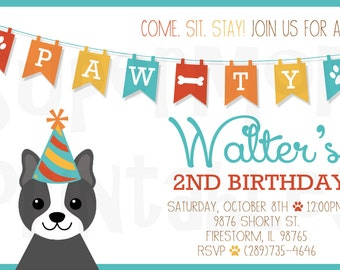 Pet Pawty Invitations