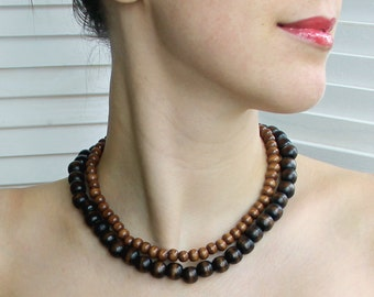 Wooden necklace - Ukrainian necklace - jewelry for women - ethnic jewelry - necklaces for women