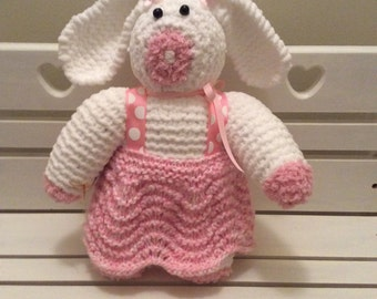 White Bunny with Pink skirt!