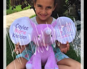 Personalized elephant stuffed animal