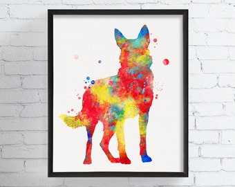 Watercolor German Shepherd, German Shepherd Art, German Shepherd Print, German Shepherd Poster, Watercolor Animal, Watercolor Dog Art Print