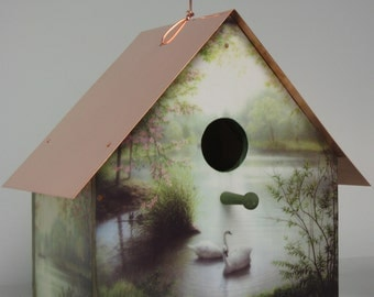 Ken Johnston's Peaceful Waters Copper Roofed Birdhouse