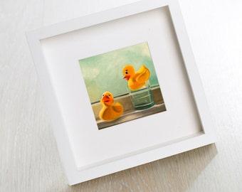 Rubber Duckies - Fine Art Oil Painting Archival Giclee Nursery Print by Artist Lauren Pretorius