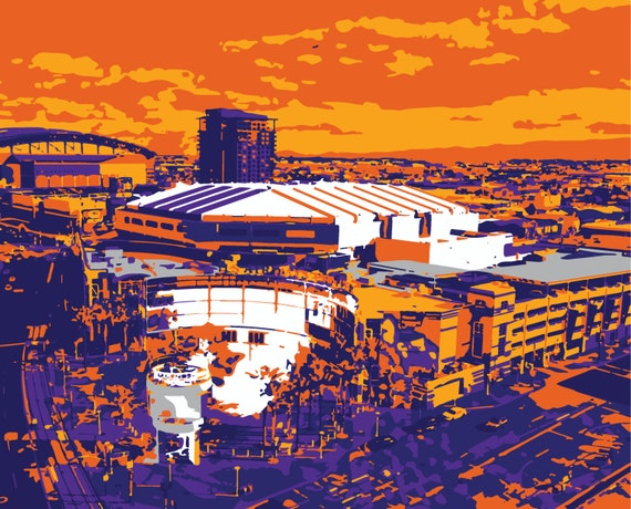 Phoenix Suns Art Talking Stick Resort Arena Phoenix Arizona
