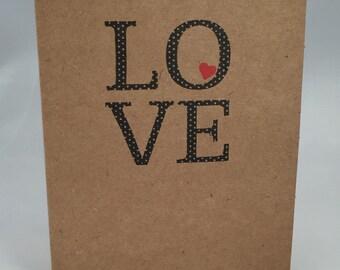 Polka Dot Love card