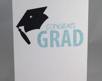 Congrats Grad blue