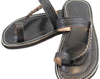 Black Moroccan Sandals