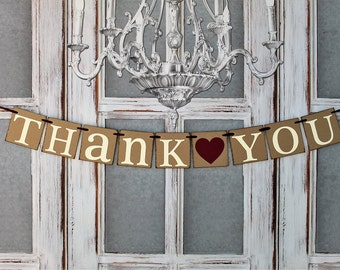 Thank You sIGNS, Thank you cards, BANNERS WEDDING SIGNS, Rustic Wedding Decorations, Wedding Banners