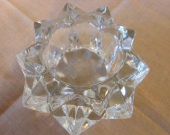 Starburst Glass Votive Candle Holder