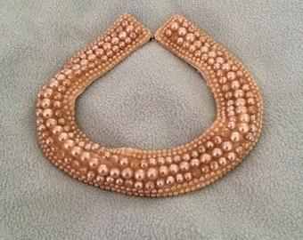 1950s Baar & Beards Glass Pearl Collar