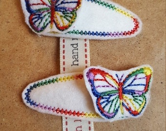 Hair Clips with Butterfly Topper