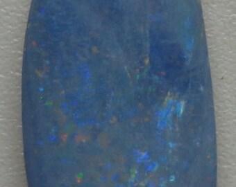 Australian black Opal Doublet Cabochon 2.9cts 18mm x 8mm x 2.3mm