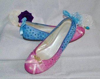 Make it Pink...Make it Blue? Disney Princess Aurora Sleeping Beauty Inspired Cosplay Costume Shoes Ballet Flats