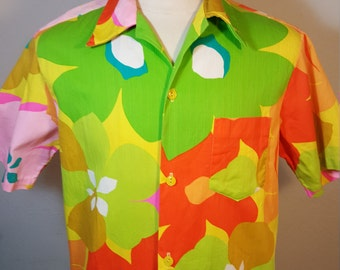 FREE  SHIPPING   Vintage Hawaiian Mod Shirt