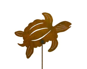 Sea Turtle Metal Yard Stake, Garden Art GS64