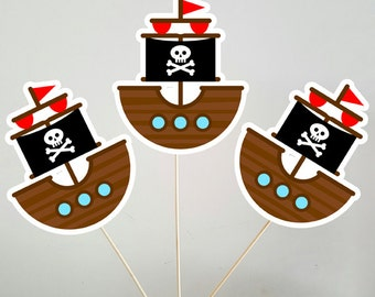 Pirate Ship Centerpieces, Pirate Centerpieces, Pirate Birthday Party, Pirate Party