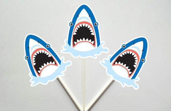 recipe: shark cupcake topper [25]