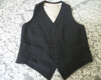 STEAMPUNK EDWARDIAN VICTORIAN Style Vintage sm Mens or Teens Black Suit Vest