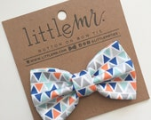 Baby Bow Tie, Toddler Bow Tie, Orange Triangle Boys Bow Ties
