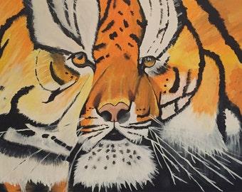 Original Tiger Canvas Painting