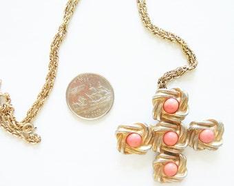 Vintage DeNicola Necklace /  Maltese Cross  Necklace / Signed DeNicola / / Designer Jewelry /Maltese Cross / 14 kt Gold Filled
