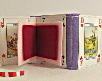 Sewing needle case ~ Flower Fairies needle book ~ Sewing organizer ~ Unusual upcycled needle holder ~ Sewing kit travel gift ~ New mom