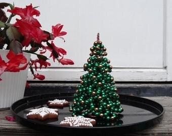 Beaded Christmas Tree Tutorial Christmas Decor Tutorial