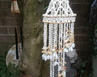 Vintage Hand Crafted Seashell Windchime Mobile