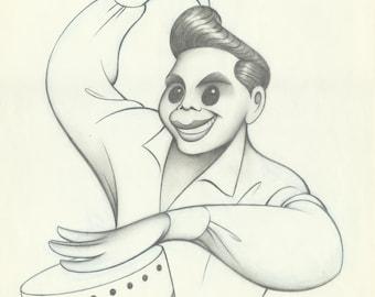 DESI ARNAZ original pencil drawing by Dave Woodman