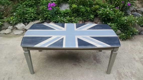 Grey Union Jack Coffee Table Grey Distressed Coffee Table