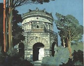 Vintage Italian Railways Ravenna Tourism Poster A3 A2 A1 Print