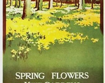 1911 London Transport Kew Gardens Poster A3 Print
