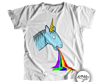 Unicorn Puking Rainbow, Unicorn Baby Shower, Funny Baby Clothes, Unicorn Rainbow, Colorful Baby Clothes, Unique Baby Item, Gender Neutral
