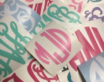 Monogram Decals -- Free Shipping